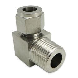 "Stainless Steel Elbow - 1/2"" MPT to 1/2"" Compression"