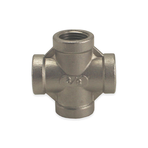 "Stainless Steel Cross - 3/8"" FPT"