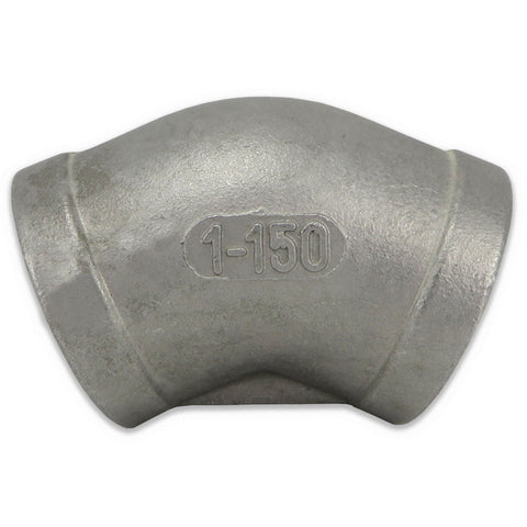 "Stainless Steel 45° Elbow - 1"" FPT"
