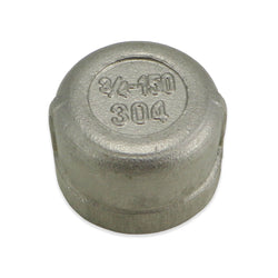 "Stainless Steel End Cap - 3/4"" FPT"