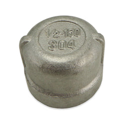 "Stainless Steel End Cap - 1/2"" FPT"