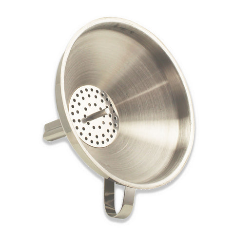 Stainless Steel Funnel with Strainer - 5 3/4""
