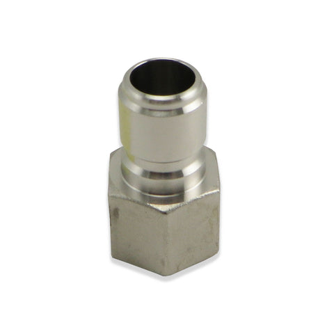 "Stainless Steel Male Quick Disconnect to 1/2"" FPT"