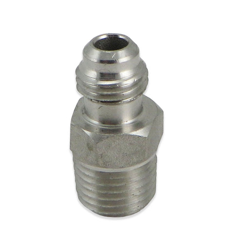 "Stainless Steel MFL - 1/4"" FFL to 1/4"" MPT"