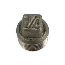 "Stainless Steel Square Head Plug - 1/4"" MPT"