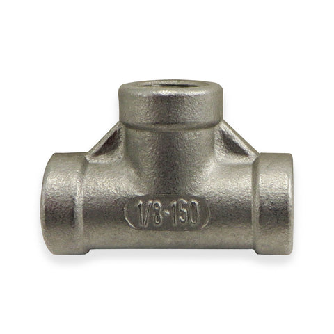"Stainless Steel Tee - 1/8"" FPT"