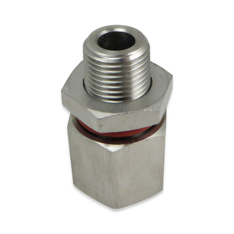 "Stainless Steel Weldless Bulkhead - 1/2"" NPT"