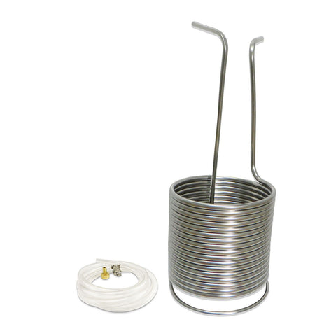 Stainless Steel Immersion Wort Chiller - 50' of 1/2""