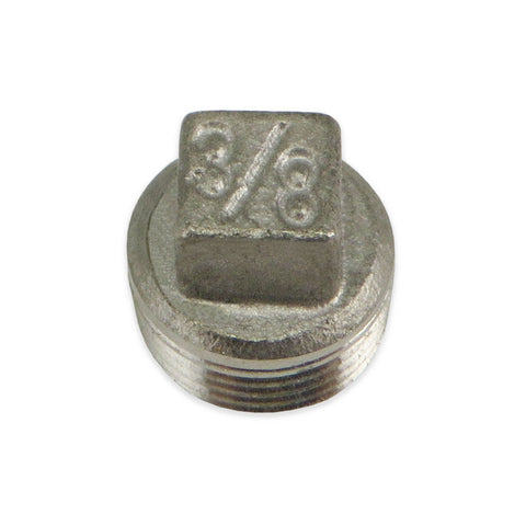 Stainless Steel Square Head Plug - 3/8""