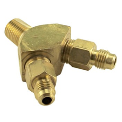 "Taprite Y Splitter – 1/4"" Male NPT to 1/4"" MFL"