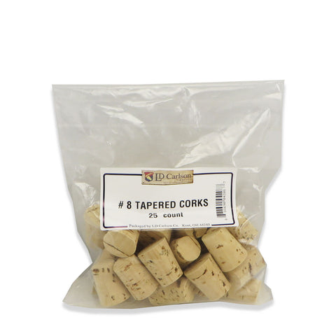 Tapered Wine Corks - No. 8 - 25 per bag