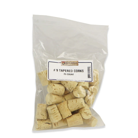 Tapered Wine Corks - No. 9 - 25 per bag