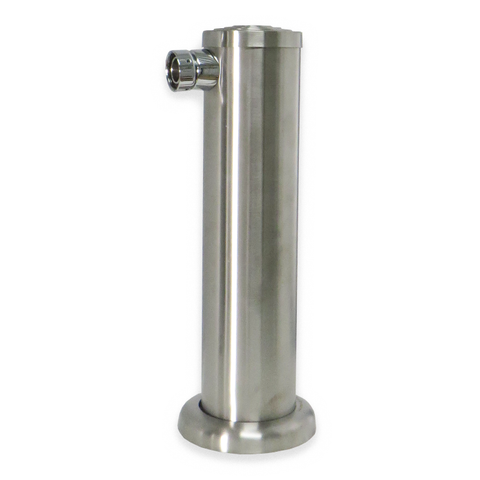 Brushed Stainless Steel Single Tap Beer Tower - Canadian Homebrewing Supplier - Free Shipping - Canuck Homebrew Supply