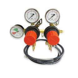 Dual Primary CO2 Regulator with HP Hose (60PSI & 2000PSI) #T752WMHP-6