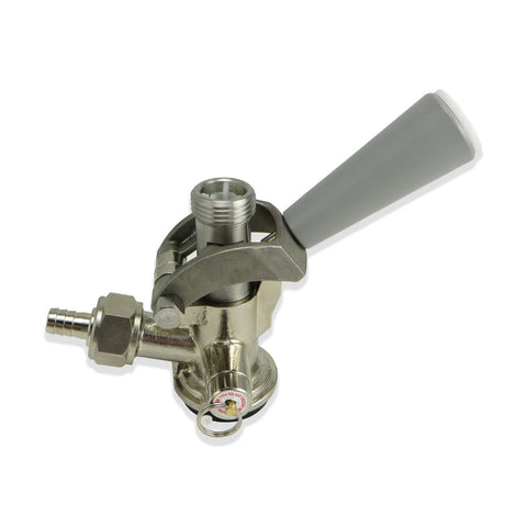 Sanke 'D' Stainless Steel Coupler with Grey Handle #CH5000S