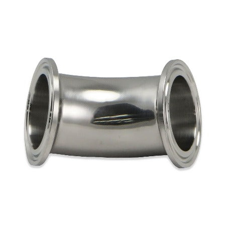 "Stainless Steel Tri-Clover Elbow - 1.5"" TC to 1.5"" TC @ 45"