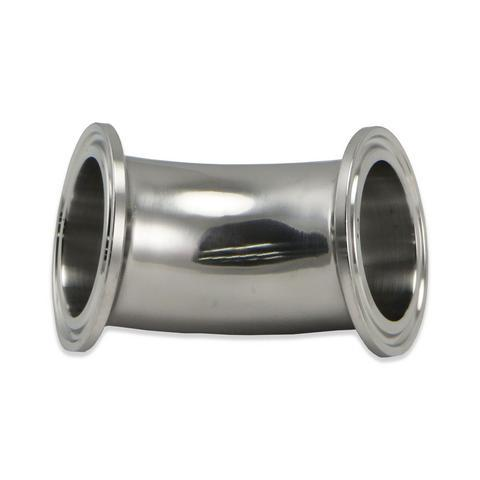 "Stainless Steel Tri-Clover 45° Elbow – 4"" TC"