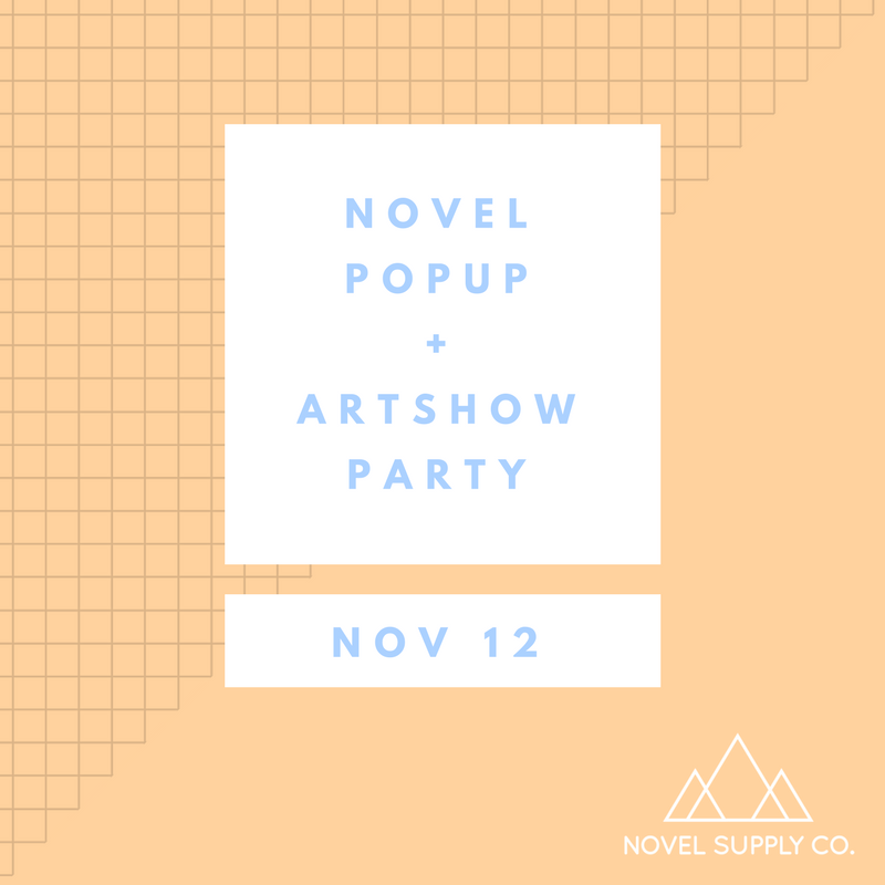 NOVEL POPUP + ARTSHOW PARTY