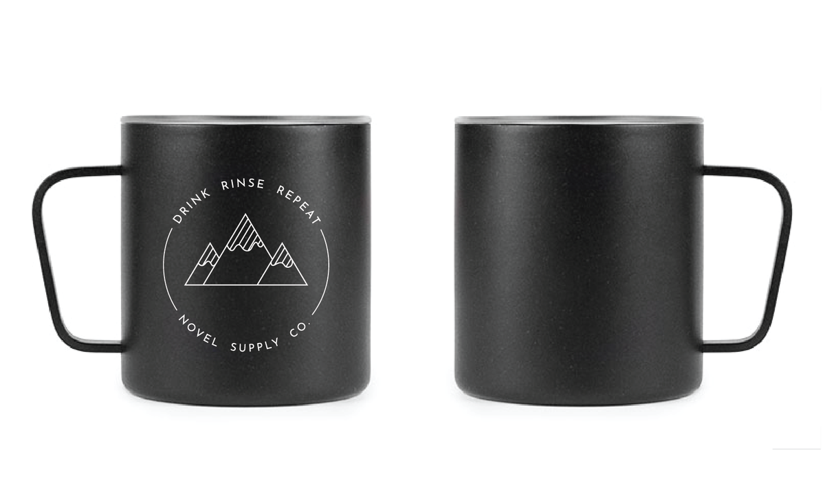 Drink Rinse Repeat 12oz Camp Mug
