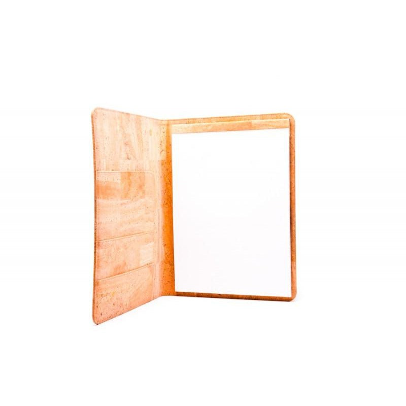 sustainable blank cork notepad padfolio