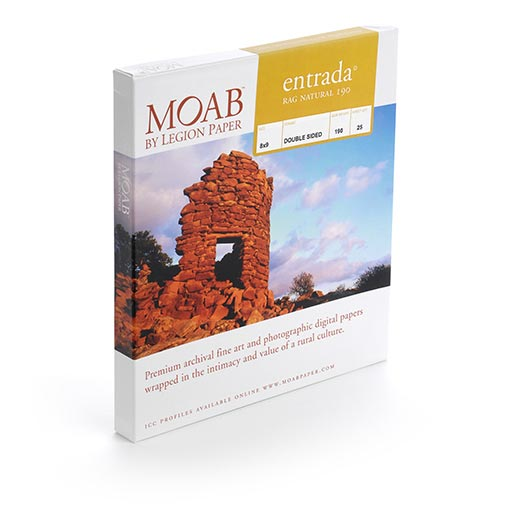 MOAB Entrada Rag Natural - Double Sided 120x130 - 25 Portfolio Pages (190gsm) - ERN1901213P
