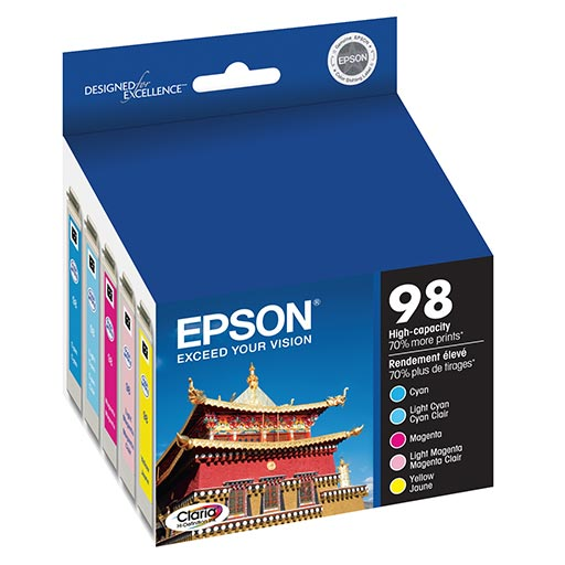 Epson Artisan High Capacity Multi Pack Ink Cartridge - T098920