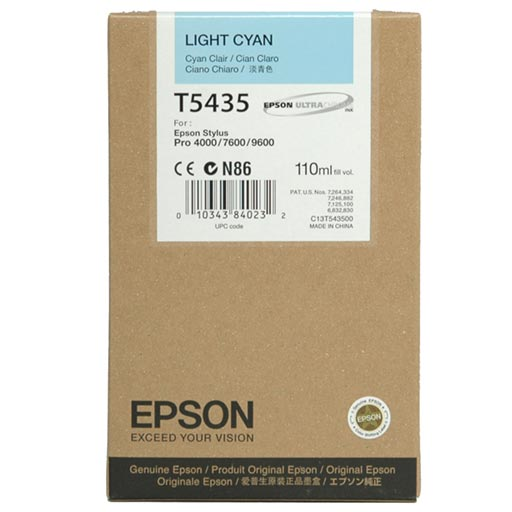 Epson Light Cyan UltraChrome Ink Cartridge 110 ml - T543500