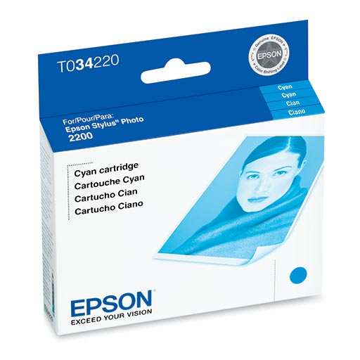 Epson Stylus Photo 2200 Cyan Ink Cartridge - T034220