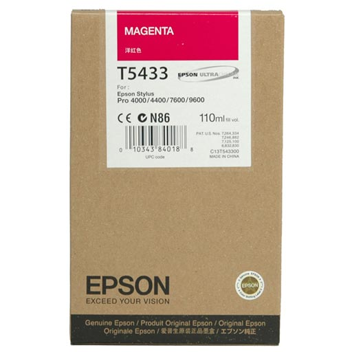 Epson Magenta UltraChrome Ink Cartridge 110 ml - T543300