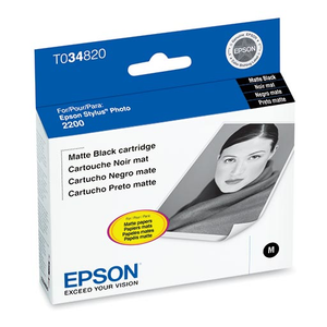 Epson Stylus Photo 2200 Matte Black Ink Cartridge - T034820
