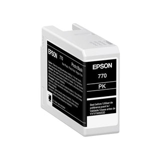 Epson SureColor P700 Photo Black UltraChrome PRO10 Ink Cartridge 25ml - T770120