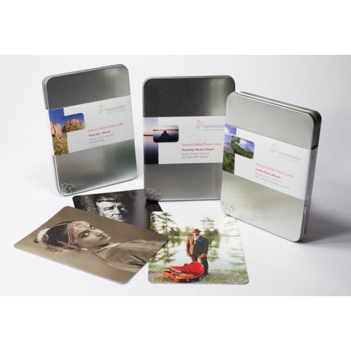 Hahnemühle Photo Rag® Baryta, 30 cards in a tin Hahnemühle box