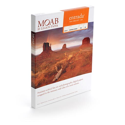 MOAB Entrada Rag Bright - Double Sided 80x90 - 25 Portfolio Pages - (190gsm) - ERB19089P