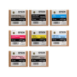 Matte Black Ink Set for Epson SureColor P800 Printer - 8 UltraChrome HD 80 ml Ink Cartridges