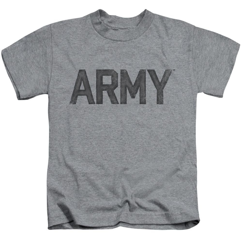 4a5bfb2aa ARMY STAR Cotton T-Shirt Athletic Heather Child Boy's Girl's Short Sleeve  ...