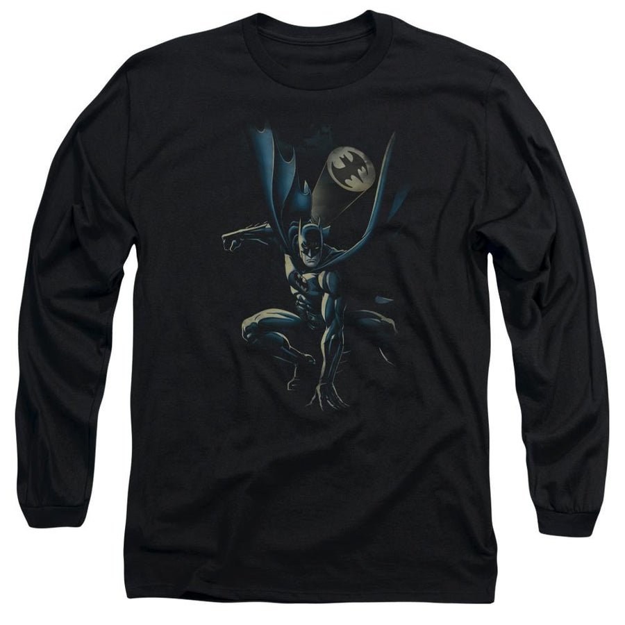 20d36155e BATMAN CALLING ALL BATS Cotton T-shirt Black Adult Men's Unisex Long Sleeve  T-