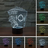 3D LED Night Light - PLAYING CARDS