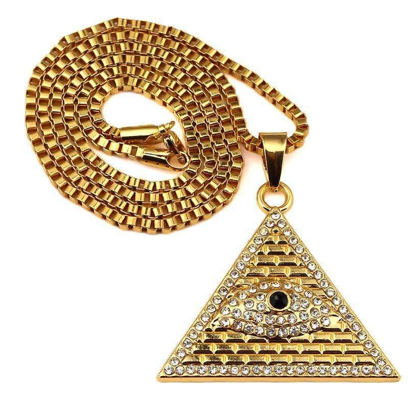 Accessories - 18k Gold Plated Chain Necklace - PYRAMID