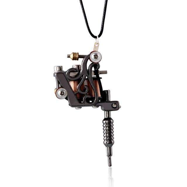 Accessories - Necklace  TATTOO - Tattoo Machine Pendant