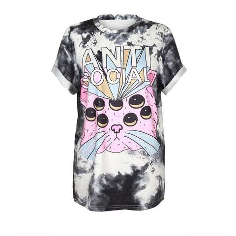 Clothing - Anti Social Cat T-shirt