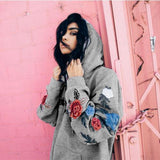 Clothing - Rose Embroidered Hoodie