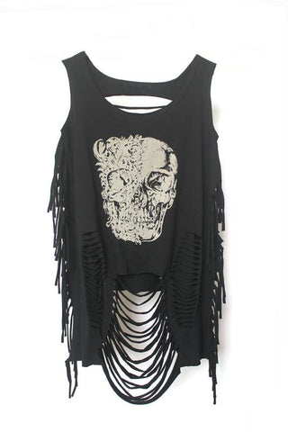 Clothing - Top SKULL - Street Fashion Style