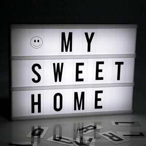 Home Decor - LIGHT BOX NIGHT LAMP DIY LETTER CARDS