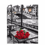 Paint By Number - Roses In Venice - 123Art™ - Paint By Number Kit