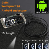 Tech - Waterproof Inspection Camera For Android Phone & PC