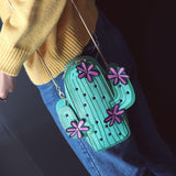 Wallet Purses - CACTUS Cross Body Bag