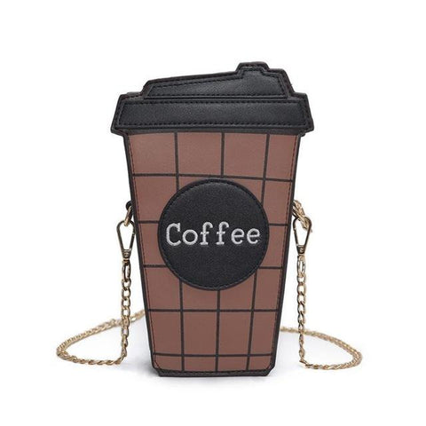 Wallet Purses - Coffee Cup Shoulder Bag