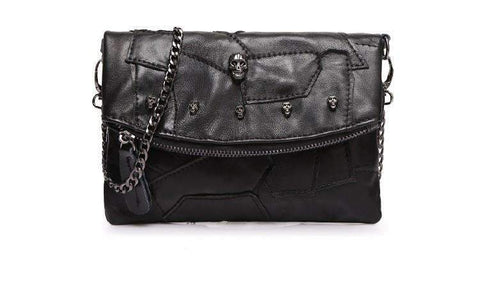 Wallet Purses - Genuine Leather Skull Handbag VISIONARY