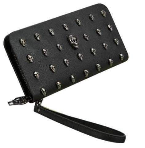 Wallet Purses - Wallet Purse SILVER SKULL - Special Price New!