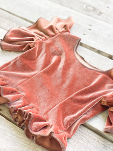 Dust Velvet Flutter Top